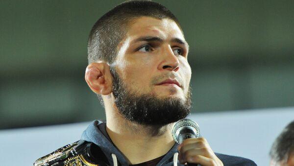 El luchador de artes marciales mixtas Khabib Nurmagomedov - Sputnik Mundo