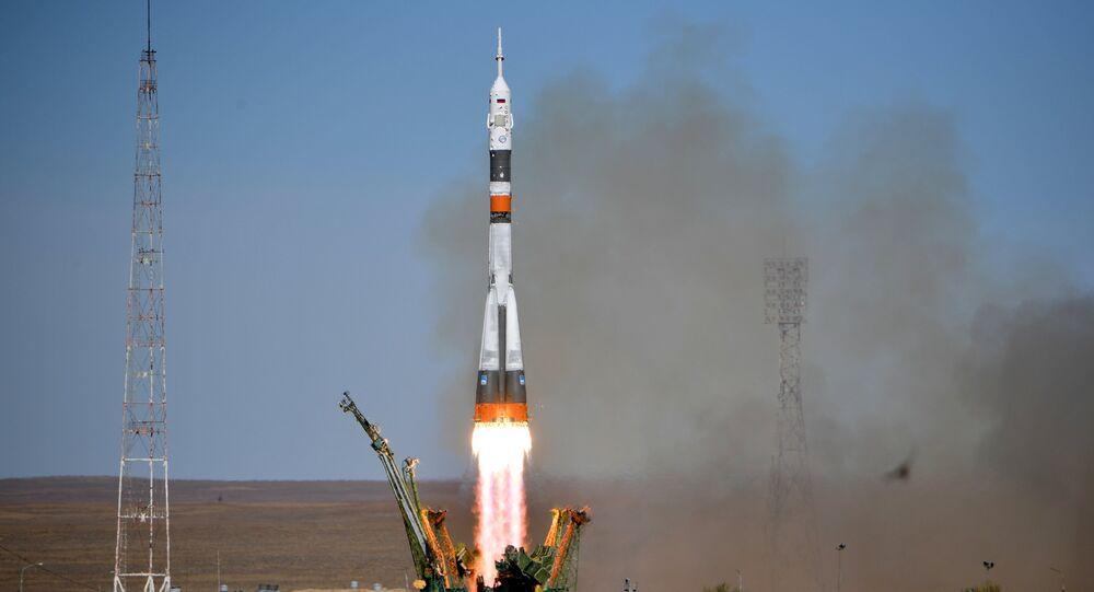 El lanzamiento del Soyuz MS-10 (archivo)