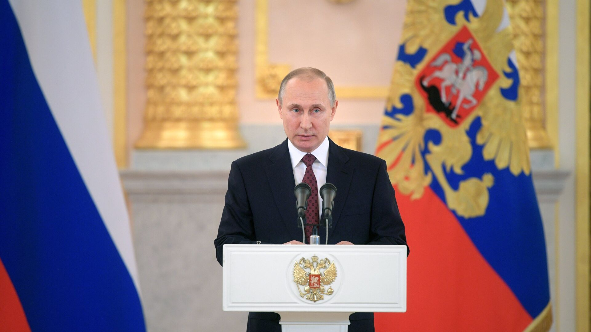 Vladímir Putin, presidente de Rusia, durante ceremonia de recepción de cartas credenciales - Sputnik Mundo, 1920, 17.05.2021