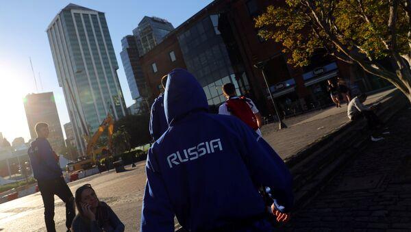 Miembro de la delegación rusa en  los Juegos Olímpicos de la Juventud en Argentina - Sputnik Mundo