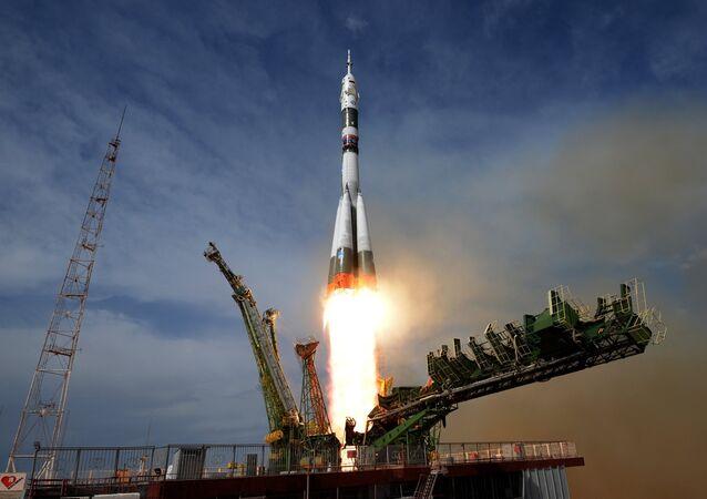 El lanzamiento de un Soyuz