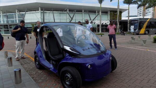 1º Encontro Brasileiro de Entusiastas de Carros Elétricos, em Palhoça, Santa Catarina (arquivo) - Sputnik Mundo
