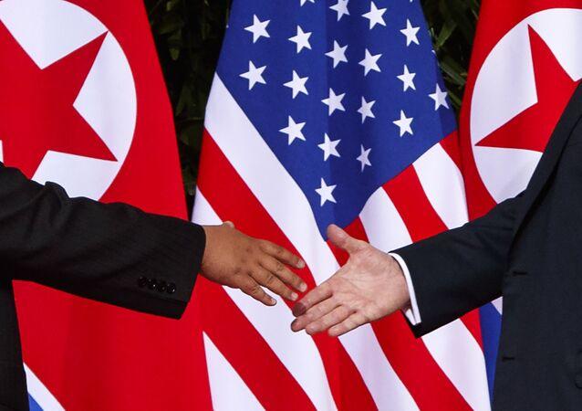 La cumbre entre Donald Trump y Kim Jong-un (Archivo)