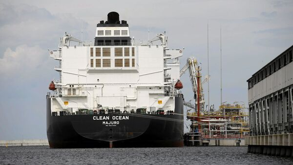 El buque cisterna Clean Ocean con el gas natural licuado estadounidense (archivo) - Sputnik Mundo