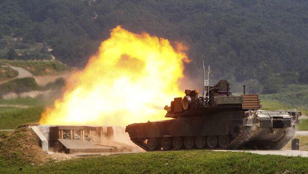 Tanque estadounidense M1A2 SEP Abrams (archivo) - Sputnik Mundo