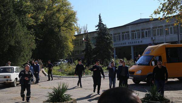 Centro de formación profesional de la ciudad rusa de Kerch donde se produjo una explosión - Sputnik Mundo