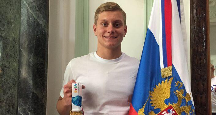 Vladislav Gerasimenko, integrante del equipo juvenil de natacion de Rusia