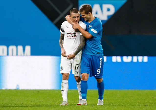 Futbolistas rusos Pável Mamáev y Alexandr Kokorin (archivo)