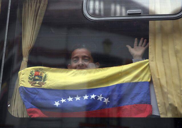 Un migrante venezolano