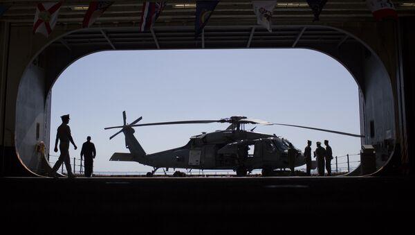 Helicóptero Sikorsky MH-60 Seahawk de la Marina de Guerra de EEUU (archivo) - Sputnik Mundo