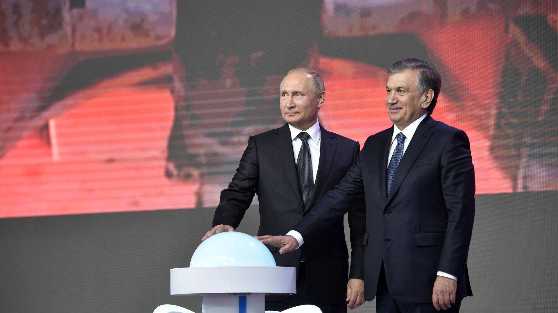 El presidente de Rusia, Vladímir Putin y el presidente de Uzbekistán, Shavkat Mirziyoyev - Sputnik Mundo, 1920, 24.07.2021