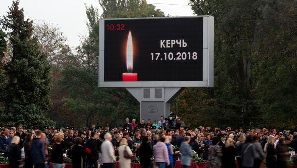 La ceremonia de despedida con las víctimas de la masacre en la ciudad rusa de Kerch - Sputnik Mundo