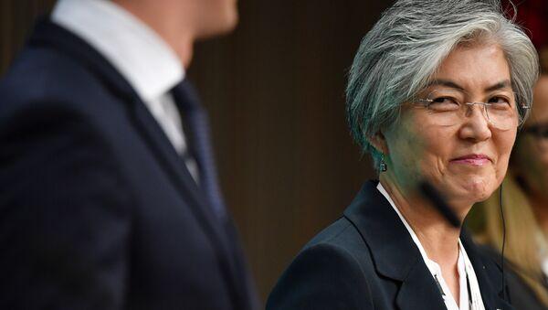Kang Kyung-wha, ministra de Exteriores de Corea del Sur, en la 12 cumbre Asia-Europa (ASEM) en Bruselas - Sputnik Mundo