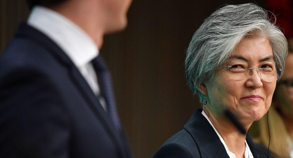 Kang Kyung-wha, ministra de Exteriores de Corea del Sur, en la 12 cumbre Asia-Europa (ASEM) en Bruselas