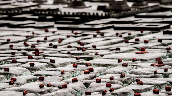 Detalle de la reproducción de la Gran Tenochtitlán - Sputnik Mundo