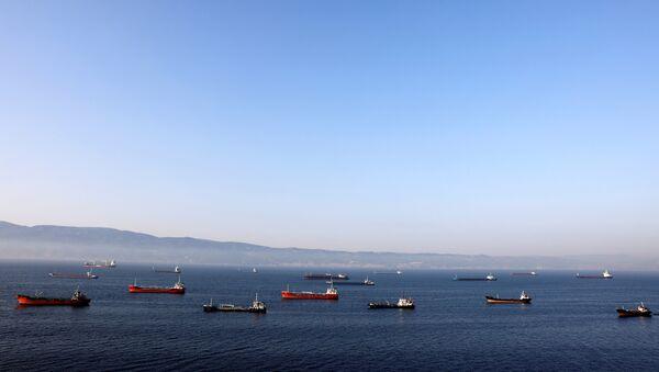 Unos petroleros de Irán cerca de la ciudad turca de Izmit - Sputnik Mundo