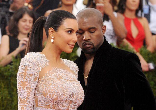 Kim Kardashian and Kanye West arrive at The Metropolitan Museum of Art's Costume Institute benefit gala.