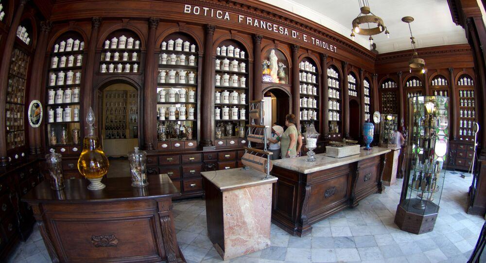 El Museo Farmacéutico en Matanzas, Cuba
