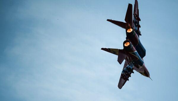 Un caza MiG-29 del grupo de aviación Strizhi, foto archivo - Sputnik Mundo