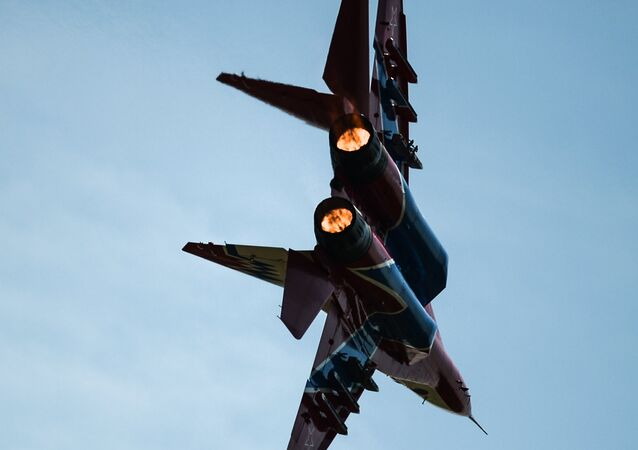 Un caza MiG-29 del grupo de aviación Strizhi, foto archivo