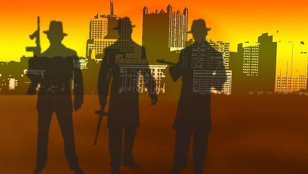 Siluetas de hombres armados - Sputnik Mundo