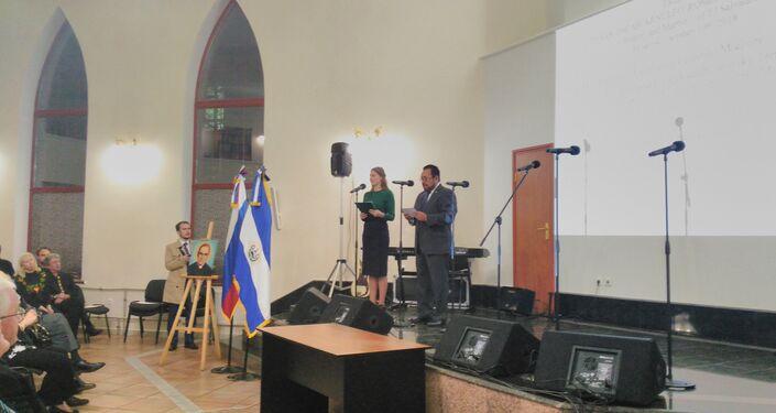 El discurso del embajador Efrén Arnoldo Bernal Chévez