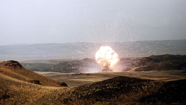 El último misil SS-23 de la Unión Soviética es destruido el 27 de octubre de 1989 en conformidad con el Tratado INF - Sputnik Mundo