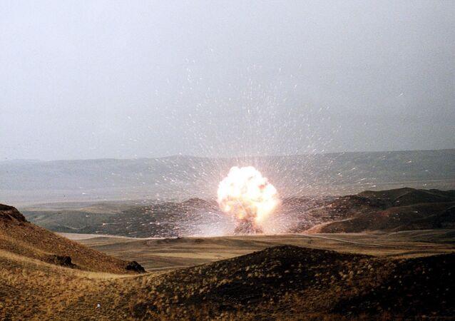 El último misil SS-23 de la Unión Soviética es destruido el 27 de octubre de 1989 en conformidad con el Tratado INF