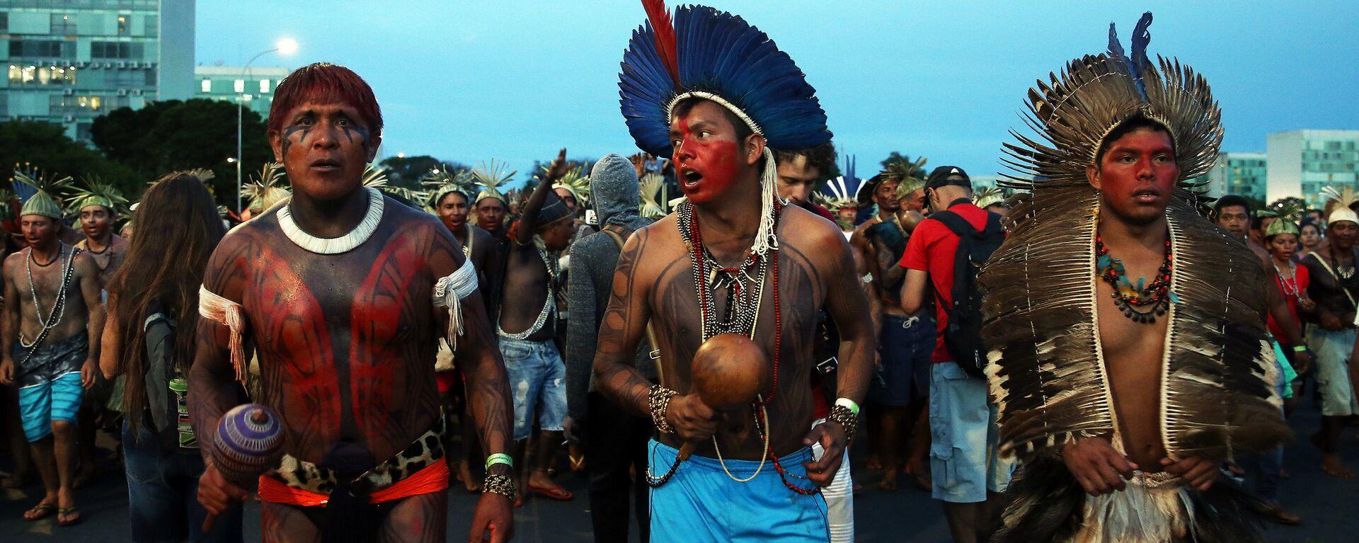 Una manifestación indígena en Brasilia - Sputnik Mundo, 1920, 10.05.2021