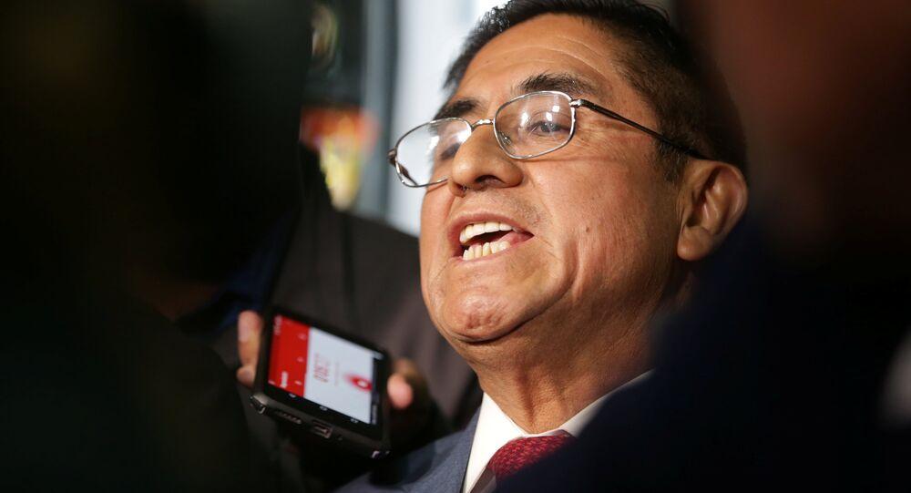 César Hinostroza, exjuez peruano