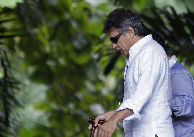 Jesús Santrich, exguerrillero colombiano, integrante del partido político FARC (archivo)
