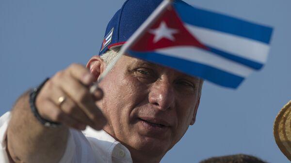 Miguel Díaz-Canel, presidente de Cuba  - Sputnik Mundo