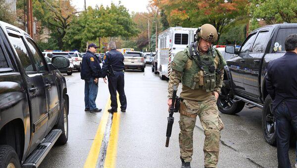 Situación en Pittsburgh tras un tiroteo en la sinagoga Tree of Life - Sputnik Mundo