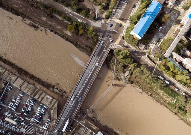 Inundación en el sur de Rusia