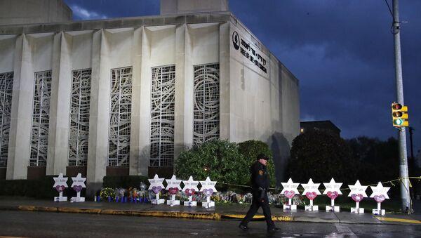 Sinagoga Tree of Life en Pittsburgh tras un tiroteo - Sputnik Mundo