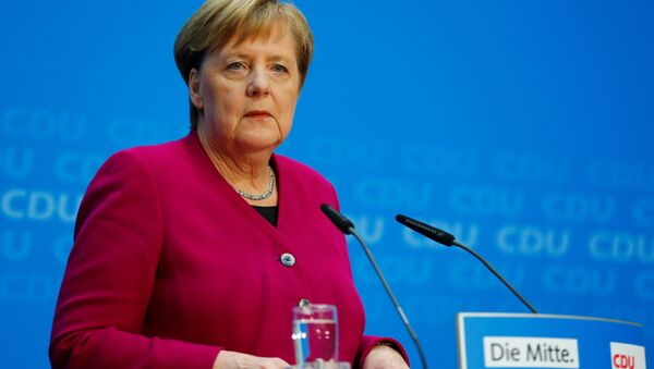 Angela Merkel, canciller alemana en una rueda de prensa - Sputnik Mundo