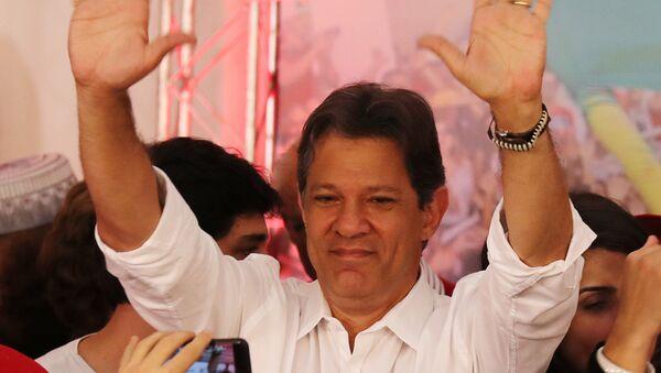 Fernando Haddad, candidato presidencial brasileño Fernando Haddad, candidato presidencial brasileño - Sputnik Mundo