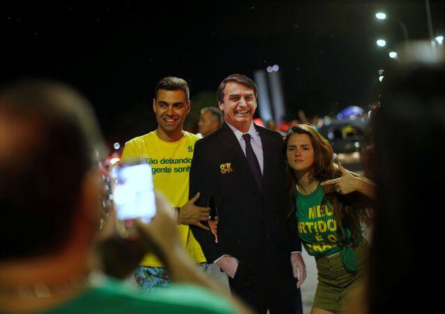 Seguidores del presidente electo de Brasil, Jair Bolsonaro
