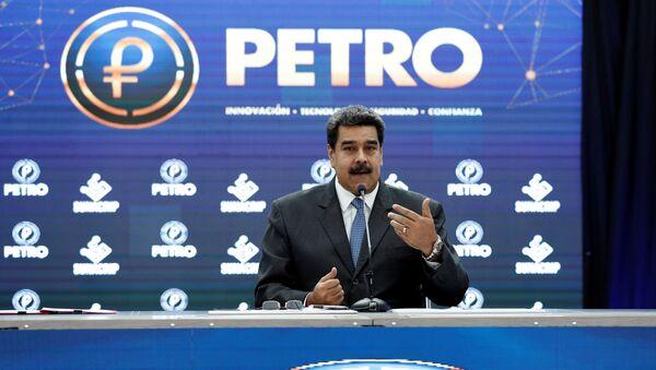 El presidente de Venezuela, Nicolás Maduro, durante su discurso sobre petro (Archivo) - Sputnik Mundo