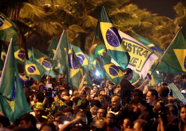 Partidarios del presidente electo de Brasil, Jair Bolsonaro