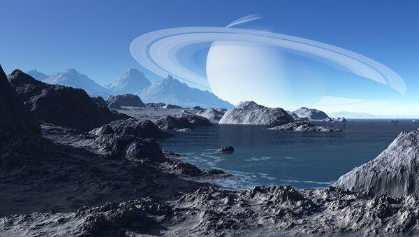 Un paisaje extraterrestre, imagen ilustrativa - Sputnik Mundo