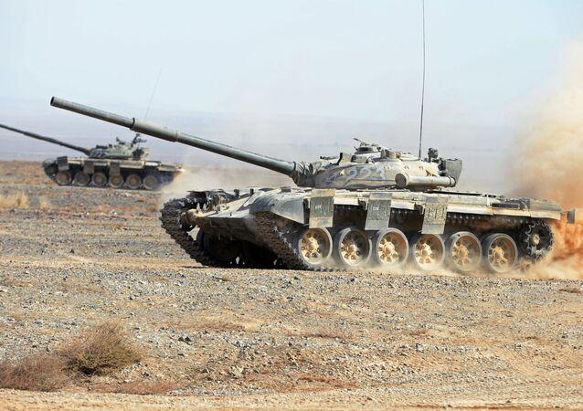 Un tanque T-72 (imagen referencial)