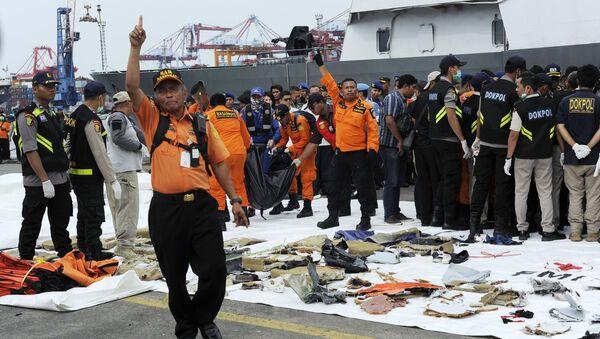 Los escombros del avión siniestrado de la compañía Lion Air - Sputnik Mundo