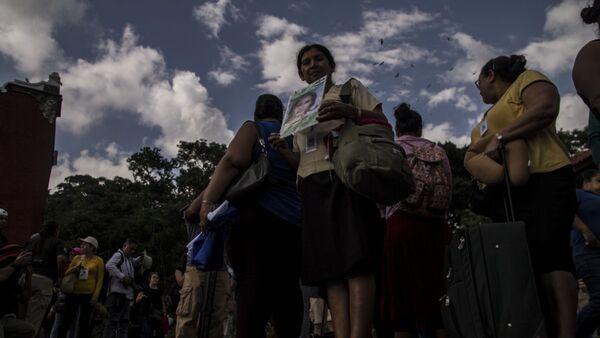 Integrantes de la 14° Caravana de Madres Centroamericanas en busca de migrantes desaparecidos en México - Sputnik Mundo