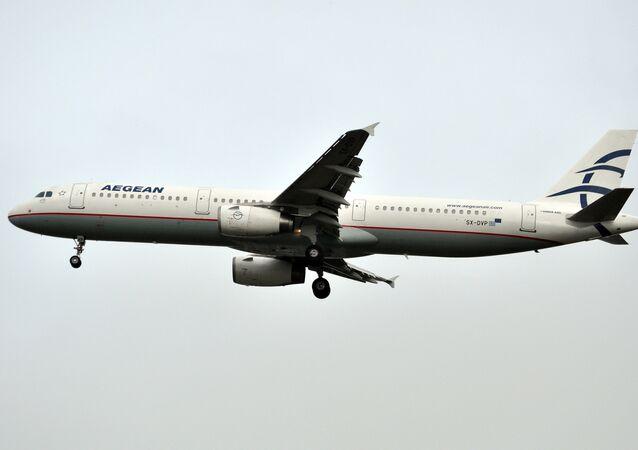 Un avión de Aegean Airlines