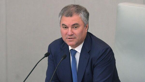 Viacheslav Volodin, presidente de la Duma de Estado - Sputnik Mundo