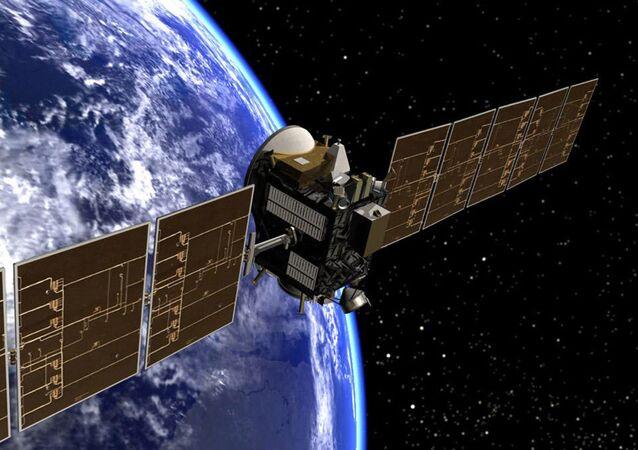 Ilustración artística de la sonda espacial Dawn