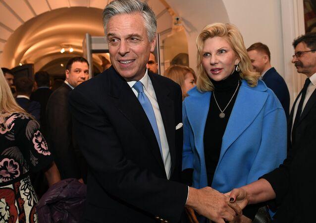 Jon Huntsman, embajador de EEUU en Rusia, y Mary Kaye, su esposa