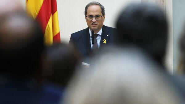 Quim Torra, el presidente de la Generalitat (Gobierno catalán) - Sputnik Mundo