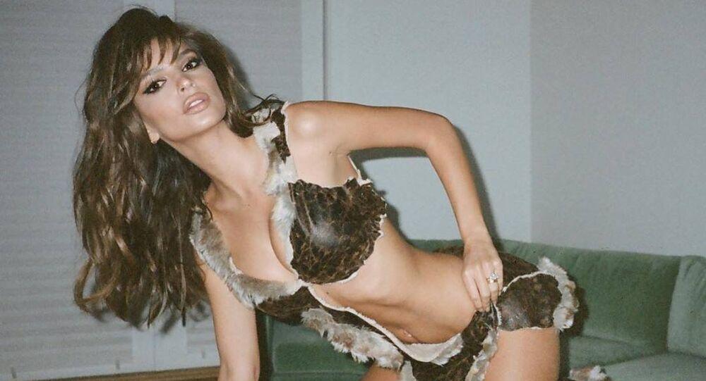 La modelo y actriz estadounidense Emily Ratajkowski